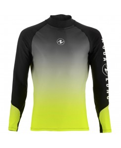 RASH GUARD UOMO AQUA LUNG - NERO - GIALLO