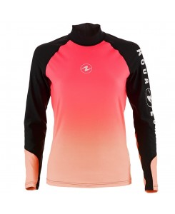 RASH GUARD ROSA AQUA LUNG - NERO-ROSA