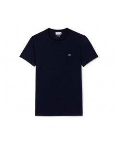 Lacoste Men's Crew Neck Pima Cotton Jersey T-shirt TH6709 - 166 MARINE