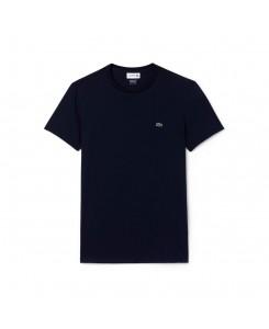 Lacoste T-shirt a girocollo in jersey di cotone Puma tinta unita TH6709 - 166 MARINE