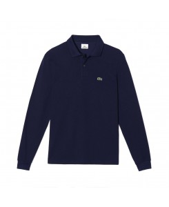 Long sleeve Lacoste Polo Shirt L.12.12 - 166 MARINE