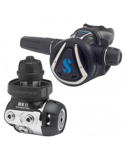 Scubapro Regulator First and Second Stage MK17 and C370 - NERO-GRIGIO