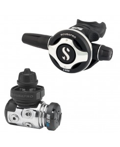 Scubapro Regulator First and Second Stage MK17 EVO and S600 - NERO-GRIGIO
