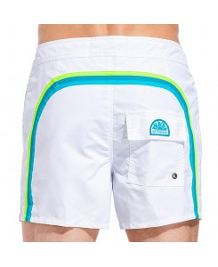 Sundek Mid-Length Board Shorts Fixed Waist M502BDTA100 - 509 WHITE #30