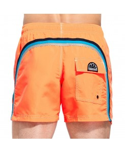 Sundek Elastic Waist Mid-Length Swim Shorts M504BDP0223 - 505 FLUO ORANGE
