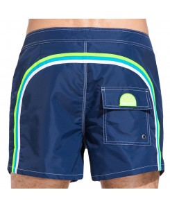 Sundek Mid-Length Board Shorts Fixed Waist M502BDTA100 - 459 NAVY #22