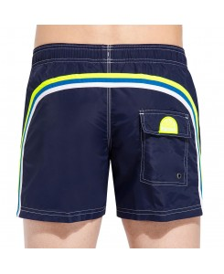 Sundek Elastic Waist Mid-Length Swim Shorts M504BDP0223 - 529 DARK BLUE #6
