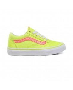 Vans Kids Neon Glitter Old Skool Sneakers (4-8 years) S/S 2020 - YELLOW / TRUE WHITE
